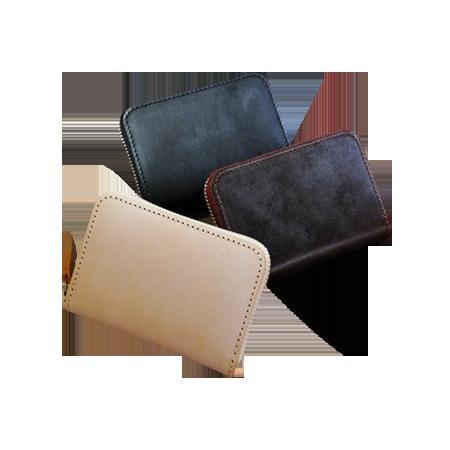 日本製 ロウ引き仕上げ ヌメ革 カードケース